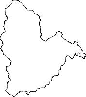奈良県吉野郡下北山村(しもきたやまむら)の白地図無料ダウンロード