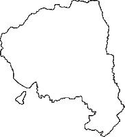 和歌山県橋本市(はしもとし)の白地図無料ダウンロード