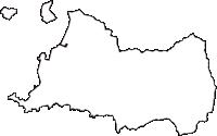 和歌山県有田市(ありだし)の白地図無料ダウンロード