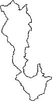 和歌山県伊都郡かつらぎ町(かつらぎちょう)の白地図無料ダウンロード