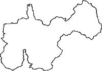 和歌山県伊都郡高野町(こうやちょう)の白地図無料ダウンロード