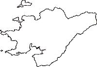 和歌山県日高郡由良町(ゆらちょう)の白地図無料ダウンロード
