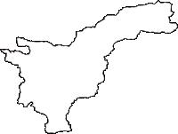 和歌山県日高郡印南町(いなみちょう)の白地図無料ダウンロード