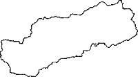 和歌山県日高郡日高川町(ひだかがわちょう)の白地図無料ダウンロード