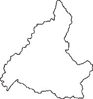 和歌山県西牟婁郡上富田町(かみとんだちょう)の白地図無料ダウンロード
