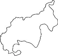 和歌山県東牟婁郡北山村(きたやまむら)の白地図無料ダウンロード