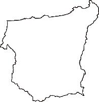 鳥取県東伯郡湯梨浜町(ゆりはまちょう)の白地図無料ダウンロード