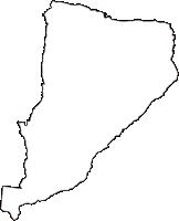 鳥取県東伯郡琴浦町(ことうらちょう)の白地図無料ダウンロード