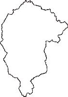 鳥取県西伯郡南部町(なんぶちょう)の白地図無料ダウンロード
