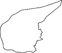 島根県簸川郡斐川町(ひかわちょう)の白地図無料ダウンロード