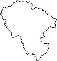 島根県邑智郡美郷町(みさとちょう)の白地図無料ダウンロード