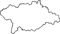 島根県邑智郡邑南町(おおなんちょう)の白地図無料ダウンロード