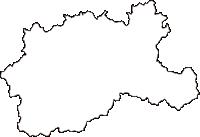 島根県鹿足郡津和野町(つわのちょう)の白地図無料ダウンロード