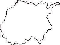 島根県鹿足郡吉賀町(よしかちょう)の白地図無料ダウンロード
