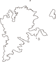 島根県隠岐郡海士町(あまちょう)の白地図無料ダウンロード