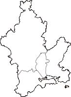 岡山県岡山市岡山市(おかやまし)の白地図無料ダウンロード