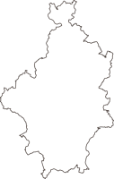 岡山県岡山市北区(きたく)の白地図無料ダウンロード