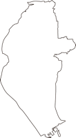 岡山県岡山市中区(なかく)の白地図無料ダウンロード