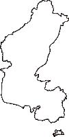 岡山県岡山市東区(ひがしく)の白地図無料ダウンロード