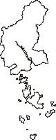 岡山県笠岡市(かさおかし)の白地図無料ダウンロード