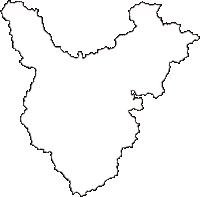 岡山県井原市(いばらし)の白地図無料ダウンロード