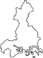 岡山県備前市(びぜんし)の白地図無料ダウンロード