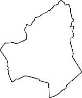 岡山県都窪郡早島町(はやしまちょう)の白地図無料ダウンロード