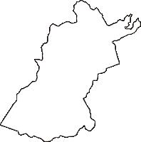 岡山県浅口郡里庄町(さとしょうちょう)の白地図無料ダウンロード