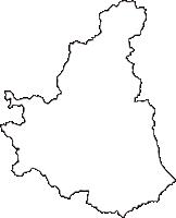 岡山県小田郡矢掛町(やかげちょう)の白地図無料ダウンロード