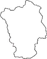 岡山県真庭郡新庄村(しんじょうそん)の白地図無料ダウンロード