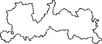 岡山県久米郡美咲町(みさきちょう)の白地図無料ダウンロード