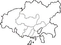 広島県広島市広島市(ひろしまし)の白地図無料ダウンロード