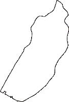 広島県広島市中区(なかく)の白地図無料ダウンロード