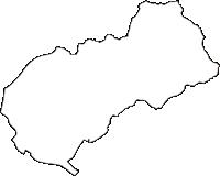 広島県広島市東区(ひがしく)の白地図無料ダウンロード