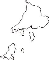 広島県広島市南区(みなみく)の白地図無料ダウンロード