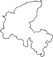 広島県広島市佐伯区(さえきく)の白地図無料ダウンロード