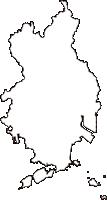 広島県福山市(ふくやまし)の白地図無料ダウンロード