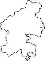 広島県東広島市(ひがしひろしまし)の白地図無料ダウンロード
