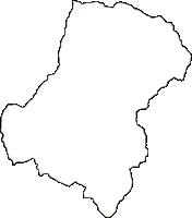広島県安芸郡熊野町(くまのちょう)の白地図無料ダウンロード