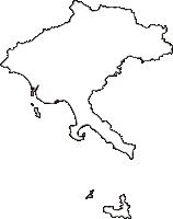 山口県光市(ひかりし)の白地図無料ダウンロード