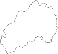山口県美祢市(みねし)の白地図無料ダウンロード
