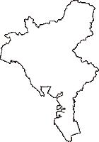 山口県山陽小野田市(さんようおのだし)の白地図無料ダウンロード