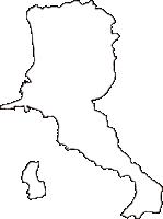 山口県熊毛郡平生町(ひらおちょう)の白地図無料ダウンロード