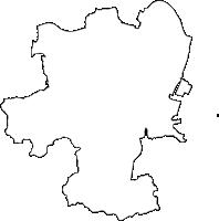 徳島県徳島市(とくしまし)の白地図無料ダウンロード