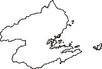 徳島県阿南市(あなんし)の白地図無料ダウンロード