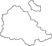 徳島県三好市(みよしし)の白地図無料ダウンロード
