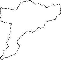 徳島県勝浦郡勝浦町(かつうらちょう)の白地図無料ダウンロード