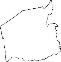 徳島県名西郡石井町(いしいちょう)の白地図無料ダウンロード