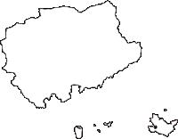 徳島県海部郡牟岐町(むぎちょう)の白地図無料ダウンロード