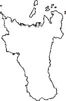 香川県高松市(たかまつし)の白地図無料ダウンロード